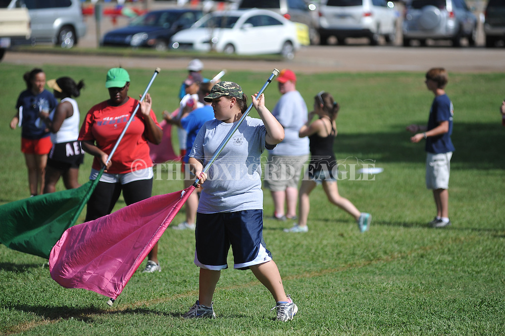 Lafayette High band camp in Oxford, Miss. on Wednesday, July 25, 2012.