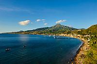 France, Martinique, Saint-Pierre et la Monatgne Pelée (1397m)// France, Martinique, Saint-Pierre and the Montagne Pelée (1397m)