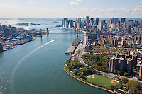 View of New York City from a helicopter tour in October 2008