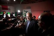 ROMA. WALTER VELTRONI INTERVISTTO DAI GIORNALISTI NEL CORSO DELL'ASSEMBLEA NAZIONALE DEL PARTITO DEMOCRATICO; WALTER VELTRONI DEMOCRATIC PARTY
