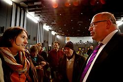 Am 21. Januar 2012 besucht Bundesumweltminister Peter Altmaier (CDU) das Wendland, um für das Endlagersuchgesetz zu werben. Neben anderen Terminen, führt er am Abend auch eine Podiumsdiskussion mit Atomkraftgegnern aus Lüchow-Dannenberg. <br /> <br /> Ort: Lüchow<br /> Copyright: Michaela Mügge<br /> Quelle: PubliXviewinG