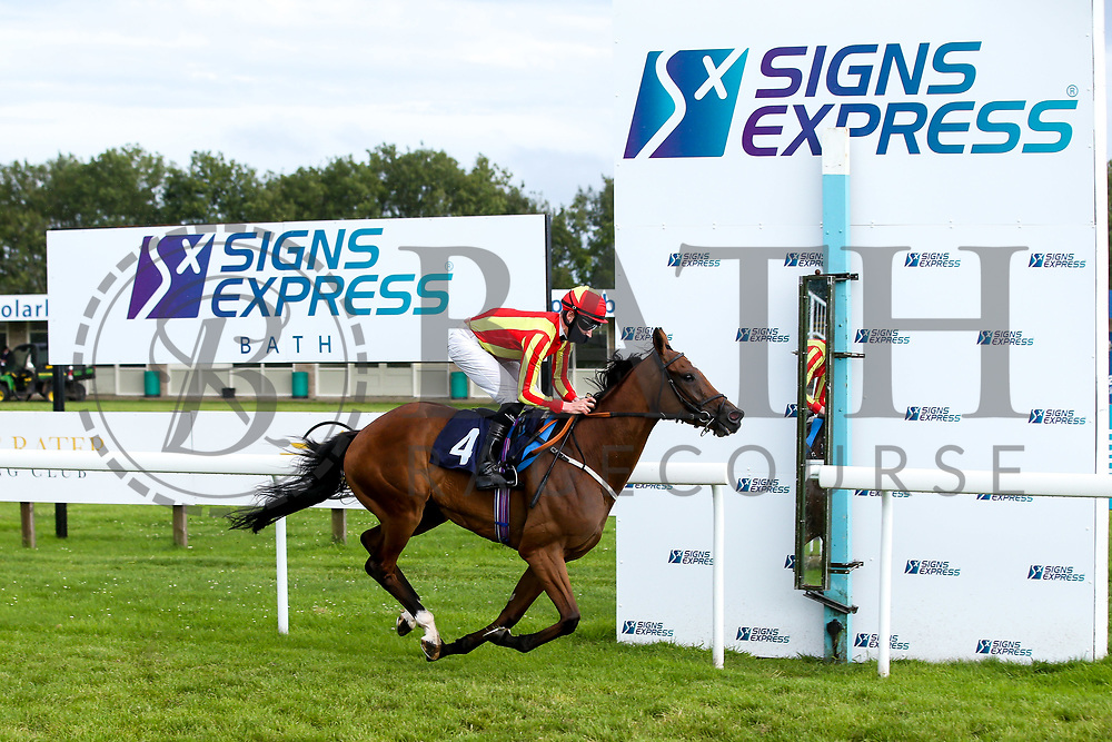 Singing The Blues ridden by Daniel Muscutt and trained by Rod Millman wins the Valuerater.co.uk Handicap - Mandatory by-line: Robbie Stephenson/JMP - 18/07/2020 - HORSE RACING- Bath Racecourse - Bath, England - Bath Races 18/07/20
