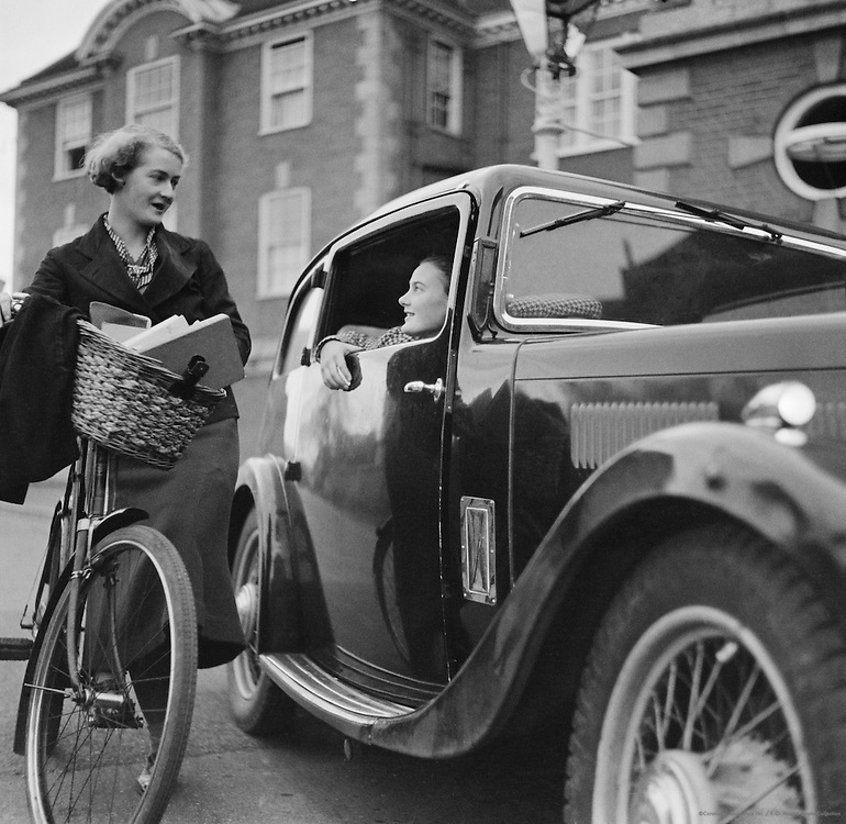 Car Outside Lady Margaret Hall, Oxford, England, 1935