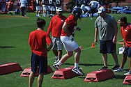 Ole Miss began football practice in Oxford, Miss. on Saturday, August 4, 2012.