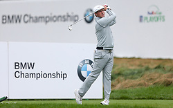 September 10, 2018 - Newtown Square, Pennsylvania, United States - Bryson DeChambeau tees off the 17th hole during the final round of the 2018 BMW Championship. (Credit Image: © Debby Wong/ZUMA Wire)