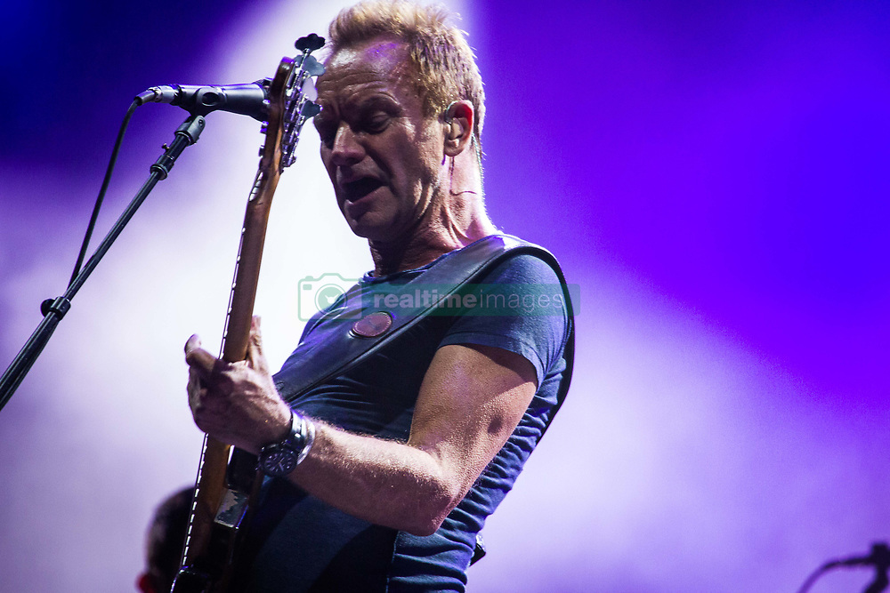 July 19, 2017 - Locarno, Republic and Canton of Ticino, Switzerland - The english singer and song-writer Sting pictured on stage as he performs at Moon&Stars 2017 in Locarno, Switzerland on 19 July 2017. (Credit Image: © Roberto Finizio/NurPhoto via ZUMA Press)