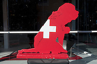 House of Switzerland in Whistler auction items to donate funds to a charity.