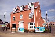 Show home new housing estate Rendlesham, Suffolk