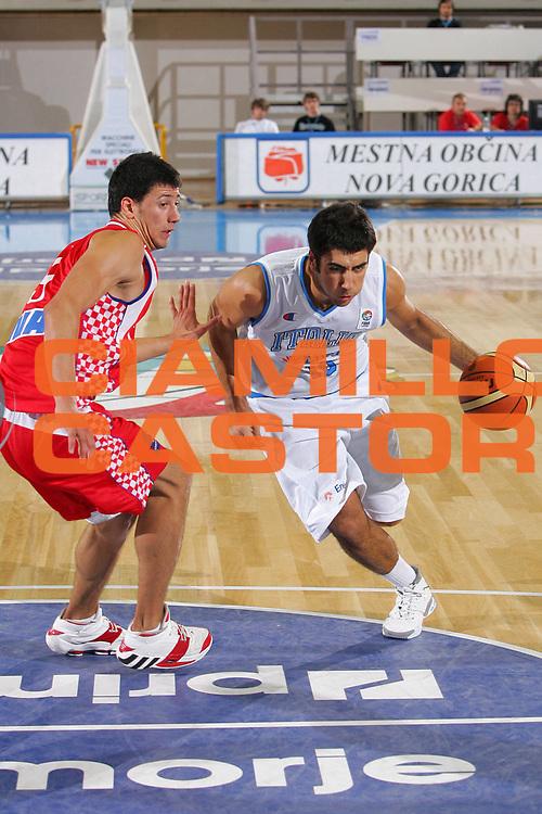 DESCRIZIONE : Gorizia U20 European Championship Men Qualifying Round Italy Croatia <br /> GIOCATORE : Aradori <br /> SQUADRA : Italy <br /> EVENTO : Gorizia U20 European Championship Men Qualifying Round Italy Croatia Campionato Europeo Maschile Under 20 Qualificazioni Italia Croazia <br /> GARA : Italy Croatia <br /> DATA : 10/07/2007 <br /> CATEGORIA : Penetrazione <br /> SPORT : Pallacanestro <br /> AUTORE : Agenzia Ciamillo-Castoria/S.Silvestri <br /> Galleria : Europeo Under 20 <br /> Fotonotizia : Gorizia U20 European Championship Men Qualifying Round Italy Croatia <br /> Predefinita :