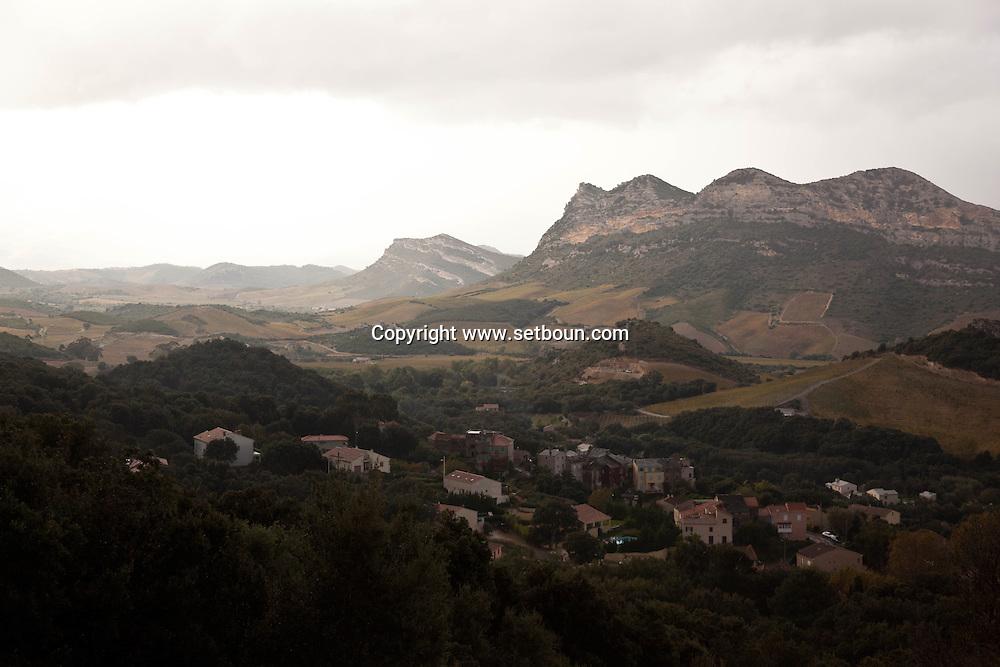 Corsica. France. Patrimonio in Nebbio area, Corsica North, France / Patrimonio village dans le Nebbio, Corse nord