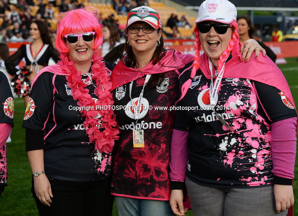 Fans supporting Women in League. Vodafone Warriors v Penrith Panthers. NRL Rugby League. Mt Smart Stadium, Auckland, New Zealand. Sunday 29 June 2014. Photo: Andrew Cornaga/www.Photosport.co.nz