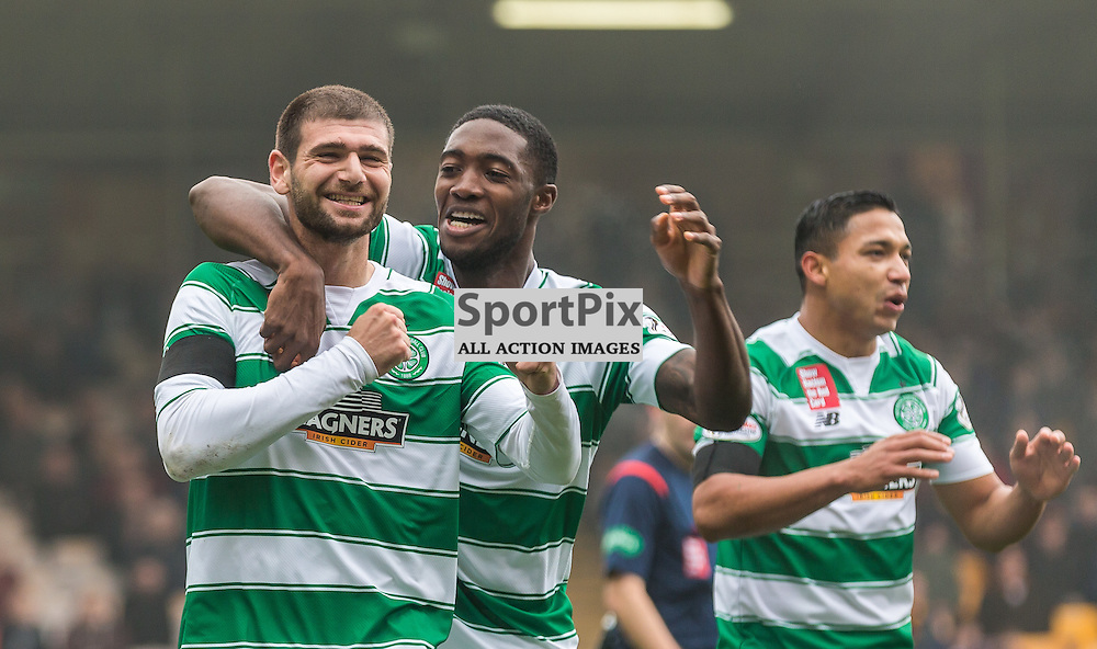 Nadir Ciftci celebrates his goal during the Scottish Premiership match between Motherwell and Celtic (c) ROSS EAGLESHAM | Sportpix.co.uk