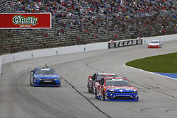 November 3, 2018 - Ft. Worth, Texas, United States of America - Michael Annett (5) battles for position during the O'Reilly Auto Parts Challenge at Texas Motor Speedway in Ft. Worth, Texas. (Credit Image: © Justin R. Noe Asp Inc/ASP via ZUMA Wire)