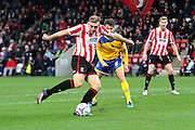 Danny Wright during the Vanarama National League match between Cheltenham Town and Altrincham at Whaddon Road, Cheltenham, England on 19 December 2015. Photo by Carl Hewlett.