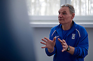 Engineer Zbigniew Staniak (Institute of Sport) while Anita Wlodarczyk's training session at Institute of Sport in Warsaw.<br /> Anita Wlodarczyk is a Polish hammer thrower and a former world record holder with 78.30 m.<br /> <br /> Poland, Warsaw, January 29, 2014<br /> <br /> Picture also available in RAW (NEF) or TIFF format on special request.<br /> <br /> For editorial use only. Any commercial or promotional use requires permission.<br /> <br /> Mandatory credit:<br /> Photo by © Adam Nurkiewicz / Mediasport