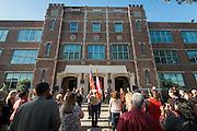 Ceremony to rename Jackson Middle School to Navarro Middle School in honor of Yolanda Black Navarro, October 5, 2016.