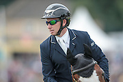 BRADELEY LAW ridden by Michael Owen during the final jumping event at Bramham International Horse Trials 2016 at  at Bramham Park, Bramham, United Kingdom on 12 June 2016. Photo by Mark P Doherty.