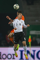 15.11.2011, Imtech Arena, Hamburg, GER, FSP, Deutschland (GER) vs Holland (NED), im Bild Lukas Podolski (GER #10 Koeln) // during the Match Gemany (GER) vs Netherland (NED) on 2011/11/15,  Imtech Arena, Hamburg, Germany. EXPA Pictures © 2011, PhotoCredit: EXPA/ nph/ Kokenge..***** ATTENTION - OUT OF GER, CRO *****