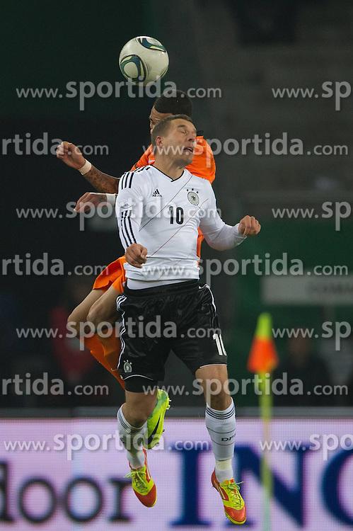 15.11.2011, Imtech Arena, Hamburg, GER, FSP, Deutschland (GER) vs Holland (NED), im Bild Lukas Podolski (GER #10 Koeln) // during the Match Gemany (GER) vs Netherland (NED) on 2011/11/15,  Imtech Arena, Hamburg, Germany. EXPA Pictures © 2011, PhotoCredit: EXPA/ nph/ Kokenge..***** ATTENTION - OUT OF GER, CRO *****