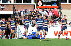Bristol United players emerge from the tunnel at Taunton RFC - Mandatory by-line: Paul Knight/JMP - 02/10/2016 - RUGBY - Hyde Park - Taunton, England - Bristol United v Gloucester United - Aviva A League