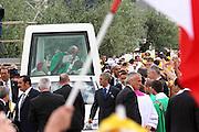 San Giovanni Rotondo 21 Giugno 2009, Visita Pastorale di Sua Santità Papa Benedetto  XVI , Italy San Giovanni Rotondo 21 06 2009, Visit of  Papa Benedetto  XVI in the foto , arrivo del papa
