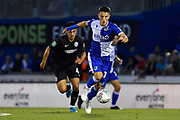 Tom Nichols (10) of Bristol Rovers on the attack during the EFL Cup match between Bristol Rovers and Brighton and Hove Albion at the Memorial Stadium, Bristol, England on 27 August 2019.