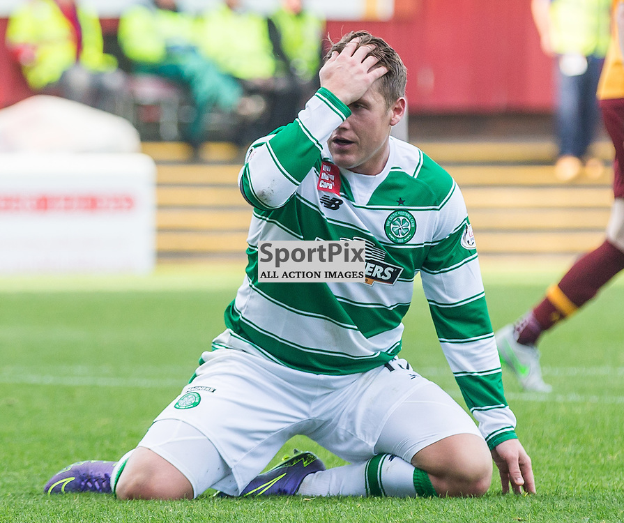 Kris Commons shoots during the Scottish Premiership match between Motherwell and Celtic (c) ROSS EAGLESHAM | Sportpix.co.uk