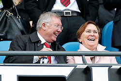 Former Manchester United manager Sir Alex Ferguson takes his seat in the stand - Photo mandatory by-line: Rogan Thomson/JMP - 07966 386802 - 02/11/2014 - SPORT - FOOTBALL - Manchester, England - Etihad Stadium - Manchester City v Manchester United - Barclays Premier League.