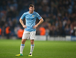 02.10.2013, Etihad Stadion, Manchester, ENG, UEFA Champions League, Manchester City vs FC Bayern Muenchen, Gruppe D, im Bild Manchester City's James Milner looks dejected as his side lose 3-1 to Bayern Munich during the UEFA Champions League Group D match between Manchester City vs FC Bayern Munich at the Etihad Stadium, Manchester, Great Britain on 2013/10/02. EXPA Pictures &copy; 2013, PhotoCredit: EXPA/ Propagandaphoto/ David Rawcliffe<br /> <br /> ***** ATTENTION - OUT OF ENG, GBR, UK *****