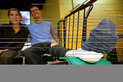 Injured Luka Dobelsek of Gorenje Velenje at handball game RK Gorenje Velenje v Bosna Sarajevo in 3rd round of EHF Championship league, on October 13, 2007 in Velenje, Slovenia. Win of Gorenje Velenje 30:27. (Photo by Vid Ponikvar / Sportal Images)