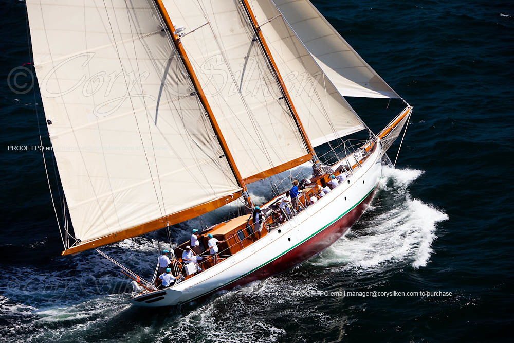 Summer Wind sailing in race 1 during the Newport Bucket Regatta.