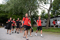 Bristol City players arrive for their Pre-Season Community Game against Brislington FC and Keynsham Town - Photo mandatory by-line: Dougie Allward/JMP - Mobile: 07966 386802 - 05/07/2015 - SPORT - Football - Bristol - Brislington Stadium - Pre-Season Friendly