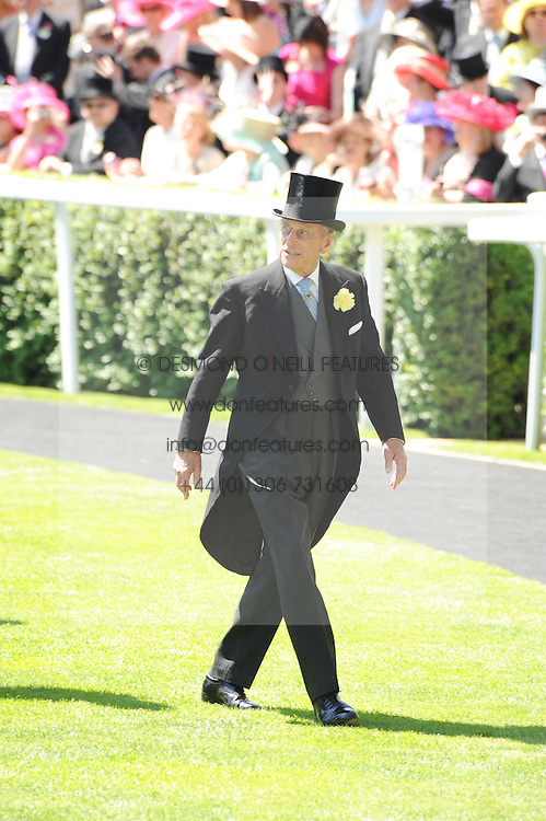 HRH THE DUKE OF EDINBURGH at the second day of the 2010 Royal Ascot Racing festival at Ascot Racecourse, Berkshire on 16th June 2010.