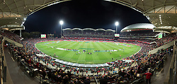 ADELAIDE, AUSTRALIA - Monday, July 20, 2015: Liverpool take on Adelaide United during a preseason friendly match at the Adelaide Oval on day eight of the club's preseason tour. (Pic by David Rawcliffe/Propaganda)