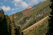 Alpine landscape. Photographed at Sulzenaualm, Stubaital, Tyrol, Austria