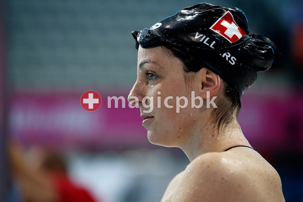 Danielle VILLARS of Switzerland looks on during a training session one day prior to the start of the LEN European Swimming Championships held at the London Aquatics Centre in London, Great Britain, Sunday, May 15, 2016. (Photo by Patrick B. Kraemer / MAGICPBK)