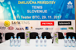 during Slovenian Tennis personality of the year 2017 annual awards presented by Slovene Tennis Association Tenis Slovenija, on November 29, 2017 in Siti Teater, Ljubljana, Slovenia. Photo by Vid Ponikvar / Sportida