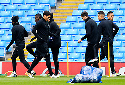 Thiago Silva of PSG trains - Mandatory byline: Matt McNulty/JMP - 07966386802 - 11/04/2016 - FOOTBALL - Manchester City v PSG - Etihad Stadium -Manchester,England - UEFA Champions League
