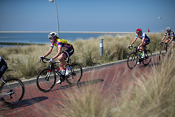 Ellen van Dijk (NED) of Team Sunweb approaches the beach during lap five of  Stage 5 of the Healthy Ageing Tour - a 117.9 km road race, starting and finishing in Borkum on April 9, 2017, in Groeningen, Netherlands.