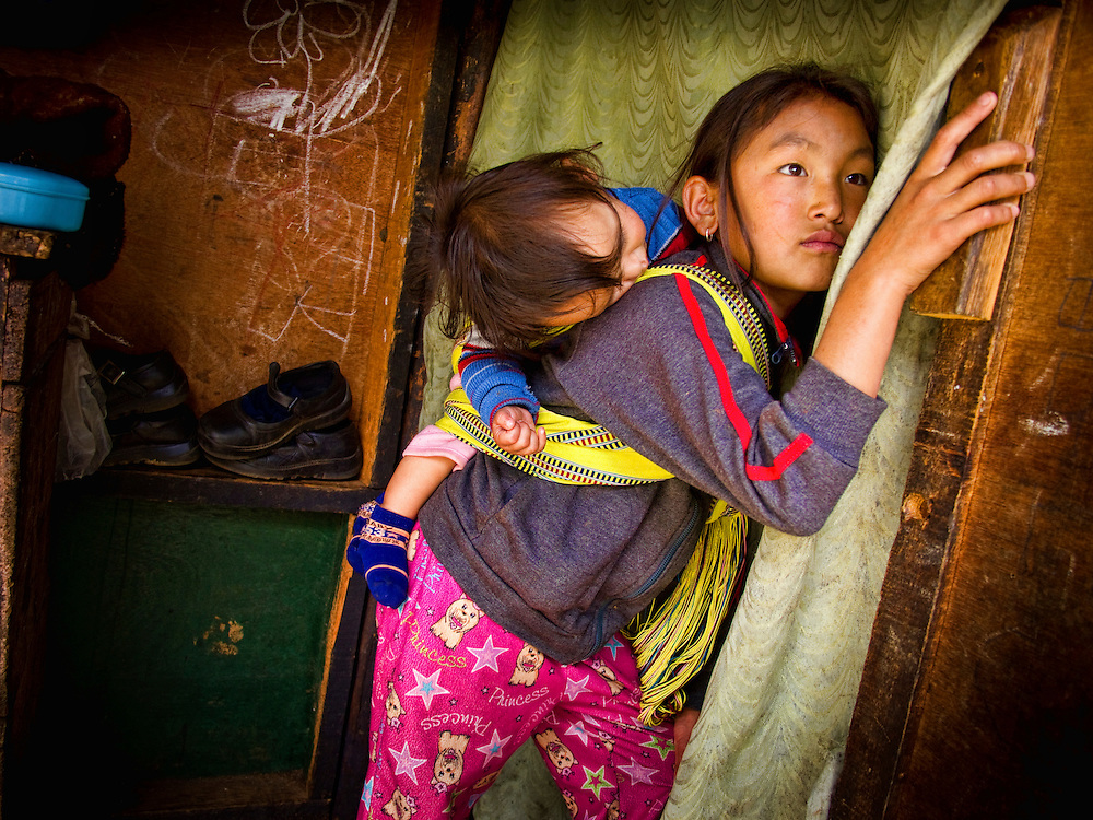 Asia, Bhutan, Thimpu, children playing