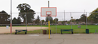 Basketball Hoop in Park. (40773 x 18381 pixels)