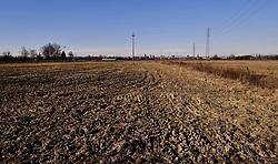 Italy, Milan - January 10, 2019.Severe drought because lack of rain.Dry fields, Cascina San Marchetto  (Barona), Milan (Credit Image: © Piaggesi/Fotogramma/Ropi via ZUMA Press)