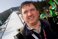 Dare Rupar of Radio Slovenia during Flying Hill Individual First Round at 2nd day of FIS Ski Flying World Championships Planica 2010, on March 19, 2010, Planica, Slovenia.  (Photo by Vid Ponikvar / Sportida)