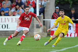 Greg Cunningham of Bristol City in action against Brislington Town - Photo mandatory by-line: Dougie Allward/JMP - Mobile: 07966 386802 - 05/07/2015 - SPORT - Football - Bristol - Brislington Stadium - Pre-Season Friendly