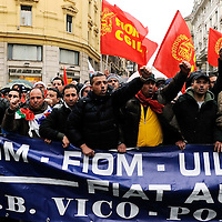Fiat workers' demonstration