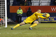 Robert Olejnik of York City collects a cross during the Sky Bet League 2 match at Kenilworth Road, Luton<br /> Picture by David Horn/Focus Images Ltd +44 7545 970036<br /> 10/02/2015