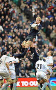 Twickenham, GREAT BRITAIN,  Oxfords' Ian KENCH, catches the line out ball, during the 2008 Varsity Rugby match Oxford vs Cambridge played at the RFU Stadium Twickenham, Surrey on  Thursday, 11/12/2008 [Photo, Peter Spurrier/Intersport-images]