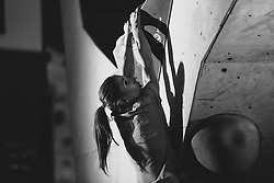 Mina Markovic during National championship in boulder climbing on November 29, 2015 in Kranj, Slovenia. (Photo By Grega Valancic / Sportida)