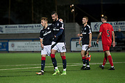 17/10/2017 - Dundee v Falkirk in the SPFL Development League at Links Park, Montrose; Dundee's Marcus Haber is congratulated after scoring the equaliser by Jack Lambert