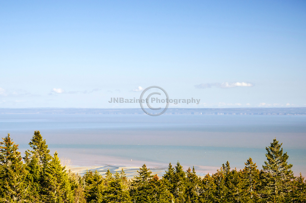 Springtime view from the atop Fundy Trail in New Brunswick Canada